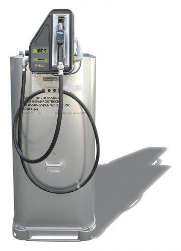 Hoftankstelle - Premium - Horn - 1000 Liter Dieseltank mit Pumpe -
