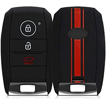 Silicone Protective Key Fob Cover kwmobile Car Key Cover Compatible with Kia 3-4 Button Car Key Bicolor Red//Black