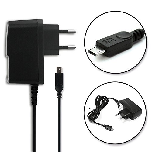 subtel Qualitäts Ladekabel - 1.2m (2A/2000mA) für Acer Iconia One 7/One 8/One 10/Tab 7/Tab 8/Tab 10 (5V/Micro USB) Ladegerät Netzteil Charger schwarz