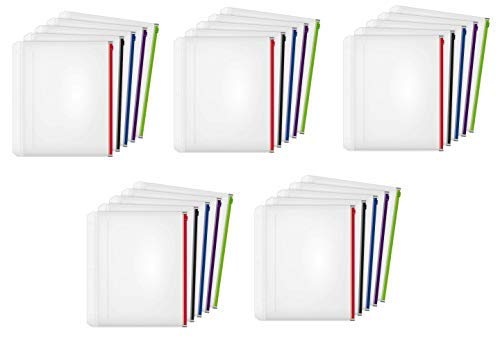 Kardinal Expansion Reißverschluss Binder Tasche, 1/5,1cm, Farben sortiert, 5pro Pack 5 Pack Bundle -