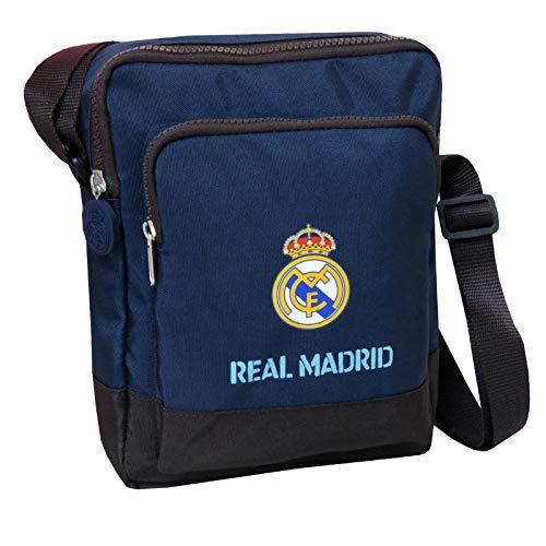 Real Madrid BD-83-RM Bandolera Portadiscman con Bolsillo Frontal