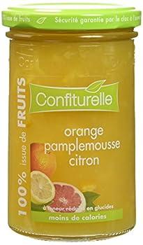 Confiturelle 100% de Fruits Orange/Citron/Pamplemousse - Lot de 3