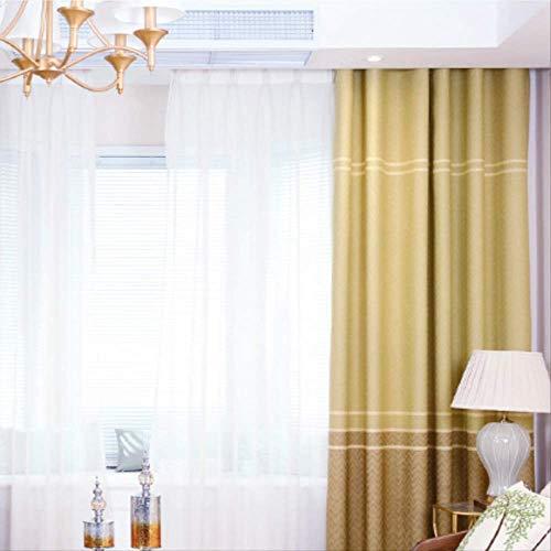 Moderno minimalista fiocco di neve rainbow canapa tenda tessuto soggiorno camera da letto alta tenda oscurante width66 x drop54 (168 * 137cm) un