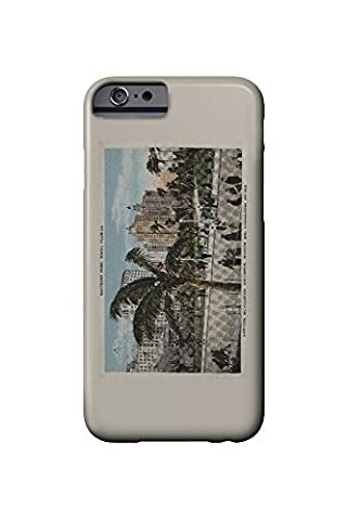Miami, Florida - View of Bayfront Park and Hotels - Vintage Poster (iPhone 6 Cell Phone Case, Slim Barely There)