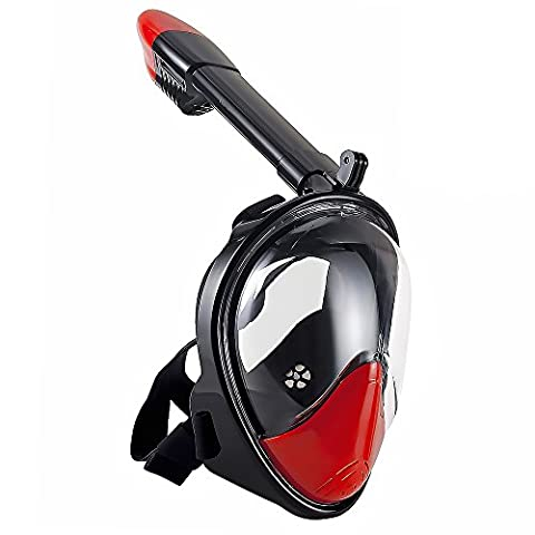 WSTOO 180° Full Face Snorkel Mask-With Anti-Fog Anti-Leak Snorkeling Design,See