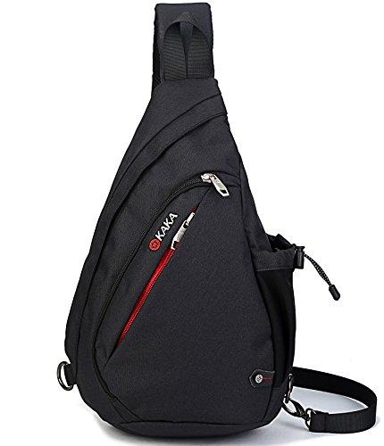 FREEMASTER Sport Rucksack Schultertasche für Wandern Camping Radfahren Schule Klein (Schwarz)