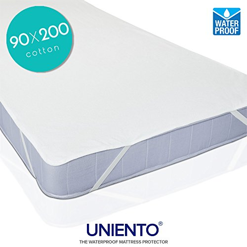Coprimaterasso Impermeabile 90x200 cm, cotone top (OEKO-TEX® | OEKO-TEX® Standard 100)