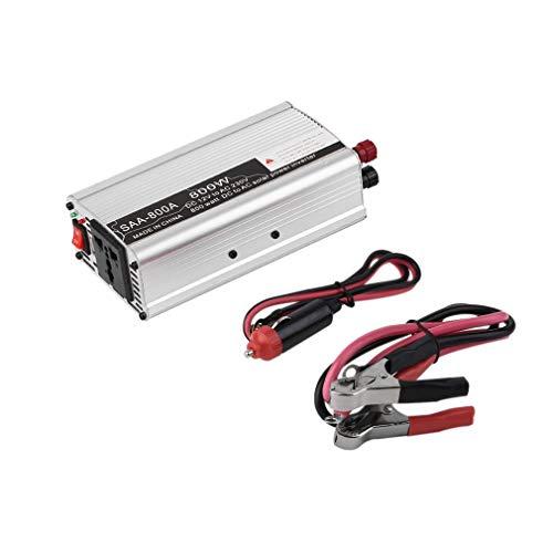 Leoboone Auto-Inverter 800W 230V Inverter Power Conversion Inverter Dual USB Silber 800w 800 Watt Power Inverter