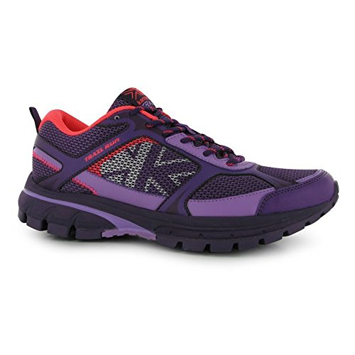 Karrimor Womens Trail Run Running Shoes Breathable Mesh Lace Up Sports Purple/Coral UK 8 (42)