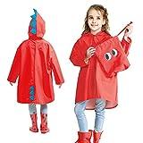 Judyer Impermeabile con Cappuccio per Bambini, Giacca Impermeabile per Bambini Impermeabile, Poncho Impermeabile Antivento con Cappuccio