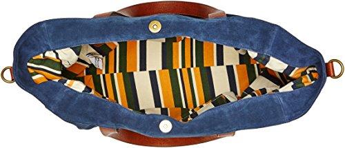 Timberland Tb0m5757, Borsa Tote Donna, 18x34x40 cm Blu (Navy)