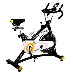 41qMToEwSIL. SS300  - Indoor Spin Bike Cycling Exercise Commercial Heavy Frame standards, Direct Belt Driven -(A500-9KG, A600-20 KG FLYWHEEL) Brand Introducing offer Cheapest in the Market for this Quality