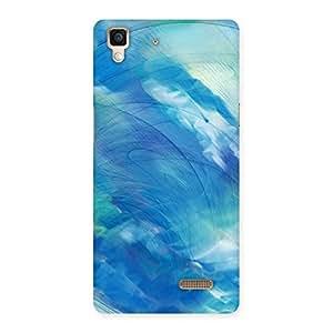 Delighted Art Blue Multicolor Back Case Cover for Oppo R7