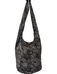efe7b55a0540 SLING Bag COTTON 40 PRINTs Men or Women CROSSBODY bag LARGE BOHO hippie  hobo handbag