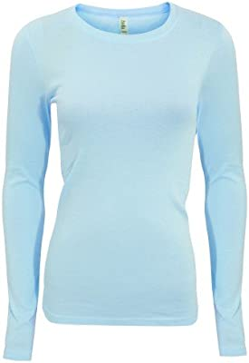 Bella + Canvas - Camiseta de manga larga modelo Sheer para mujer