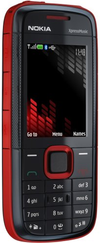 Nokia 5130 XpressMusic red (GSM, Bluetooth, Kamera mit 2 MP, Nokia Music Store, UKW-Stereo-Radio) Handy