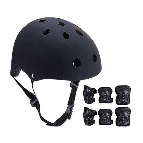 Schutzausrüstung CJC Skateboard Schlittschuhe Kind Helm Ellbogenschützer Handschutz Knieschoner 7 Stück/Sätze (Farbe : 4)