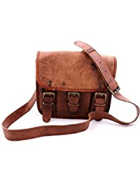Leather Bag Genuine Brown Messenger Sling Bag By Pranjals House