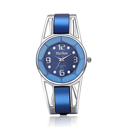 Mode Frau Kristall Edelstahl Analog Quarz Armbanduhr Armband Edelstahl Analoge Quarz Armbanduhr Uhr Wrist Watch Steel Armband Quartz Casual Uhren Geschenke Für Frauen