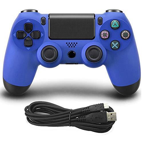 e Shock USB Wired Controller für PS4 Joystick Fit für PC 2,2 m Kabel für PS4 / PS3 Konsole für Playstation Dualshock 4 Gamepad blau blau ()
