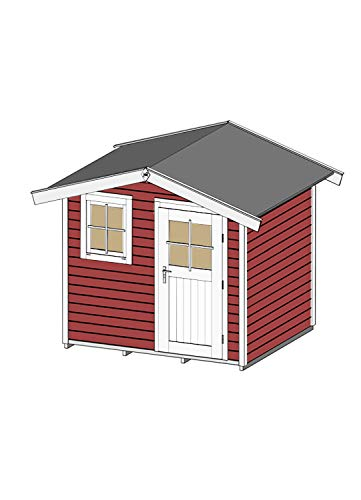 Weka Weka Gartenhaus 123 Gr. 1, schwedenrot