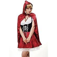 DRESS ME UP - Costume da Donna, Bellissimo Cappuccetto Rosso - Ispirato a favole e cosplay, Taglia M