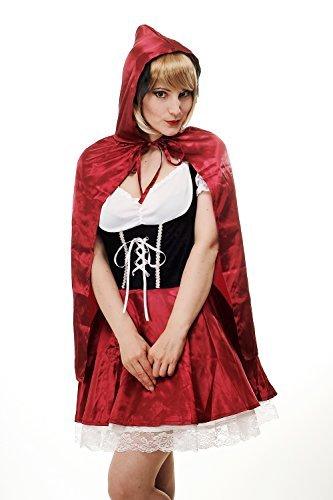 Kostüm Damen Damenkostüm Sexy Rotkäppchen Red Riding Hood Barock Gothic Lolita Märchen Cosplay L064 Gr. 36 / (Cosplay Hood Red Kostüm Riding)