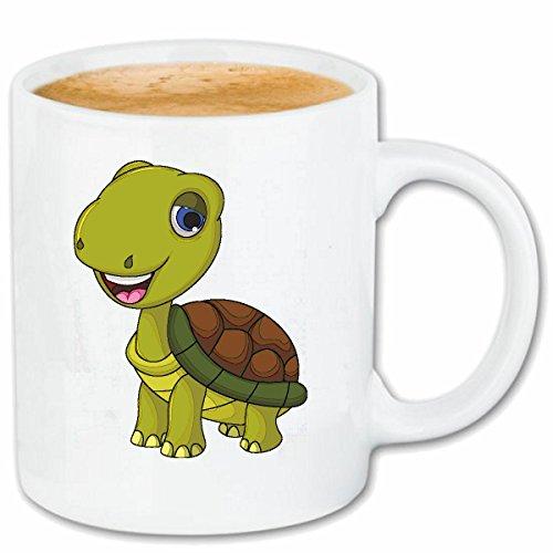 Reifen-Markt Kaffeetasse FRÖHLICHE SCHILDKRÖTE MIT Panzer SCHILDKRÖTEN LANDSCHILDRÖTE...
