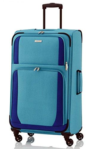 Paklite by travelite Rocco 4-Rad Trolley 65cm blau - 4-rad Upright Spinner