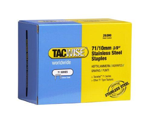 Tacwise 0375 Lo de 20000 Agrafes en Acier Inox 71/10 mm