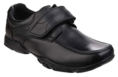 Hush Puppies Freddy 2, Zapatos para Uniformes de Escuela para Niños, Negro, 23.5 EU