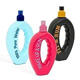 Sport Water Bottle Cool Running Handgeformte Flasche mit Push & Pull Deckel Handshaped Bottle Push & Pull Sports Cap