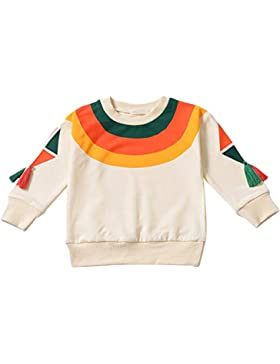 ESHOO Baby Mädchen Pullover Star Bedrucktes Langarm T-Shirt