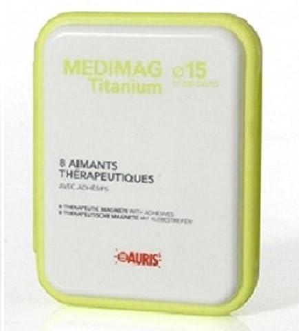 Box Magneten Schmerzen zu lindern - Auris Medimag Titanium Durchmesser 15 mm