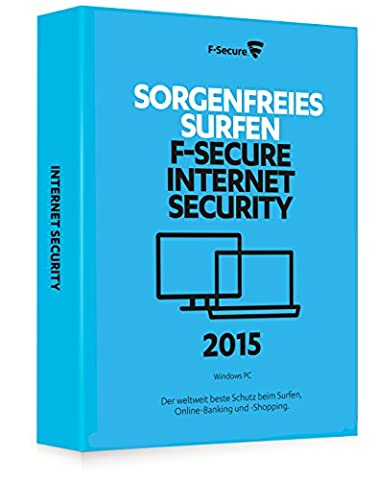 F-Secure Internet Security 2015 - 1 Jahr / 1