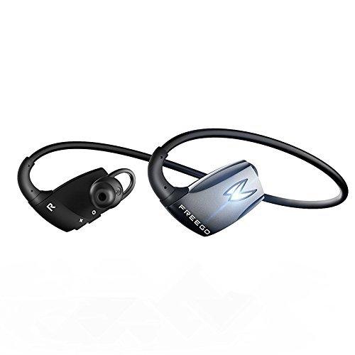 FREEGO Sport Headphones con Mic - Auriculares Bluetooth 4.1 deportivos, soporte conectar con 2 Bluetooth dispositivos y CVC6.0 technología de reducción de ruido