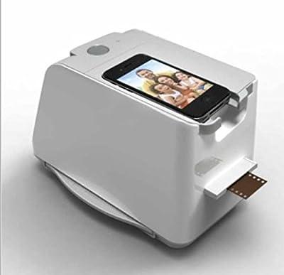 SainSonic FS de 034en 1-Escáner (1800DPI interpolados, 10bits por canal de color, con iphotojet App) para smartphone iPhone 4, 4S, 5, 5S, Samsung S2S3Gris Color de * *