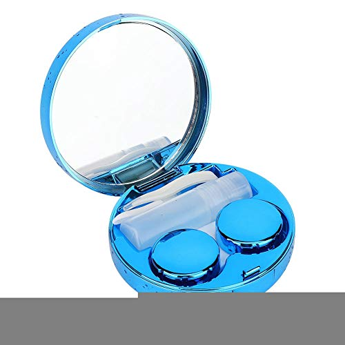 Brillenetui Brillenetui Haltbare und leicht zu tragende Augen Schützen Sie das Zubehör mit dem stilvollen Halter. Halten Sie die Kontaktlinse vor dem Austrocknen. Farbe optional(Blau)