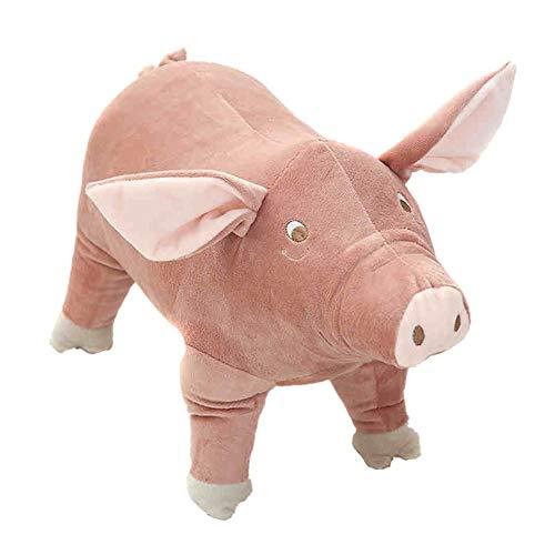 Aeebuy 1 Stücke Plüschtier Schwein Cartoon Kinder Begleiten Schlafen Kuscheltier Stofftiere (Schwarze Stofftier Mops)