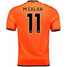 2017-18 Liverpool Third Football Soccer T-Shirt Camiseta (Mohammad Salah 11)