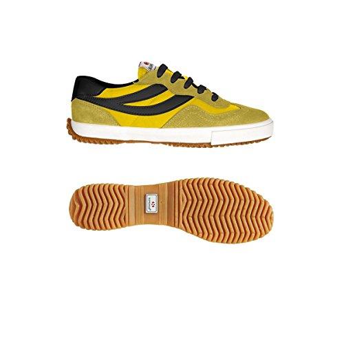 Superga  2832 Nylu, Sneakers Basses Unisexe adulte- DkYellow-Yellow-Blk