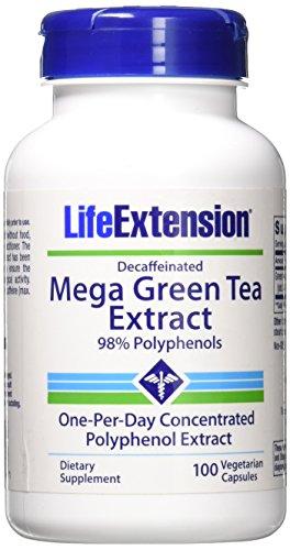 Life Extension Mega Green Tea Extract Decaf. 100 VegiCaps - Mega Green Tea