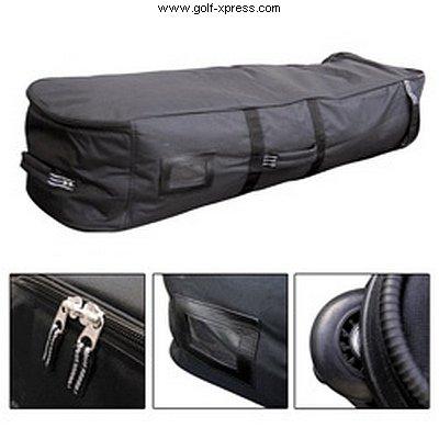 Masters Golf-Flugtasche mit Rädern, schwarz