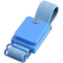 sourcingmap® Azul cuerda sin hilos anti estática correa de muñeca pulsera anLazostática