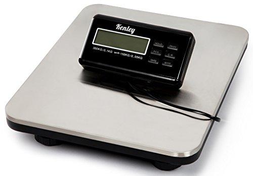 Kenley Balanza Digital Báscula de Plataforma 150kg / 300kg - para Paquete Envíos Postal - Balanza Industrial Comercial Profesional - Baterías y Cable Incluidos