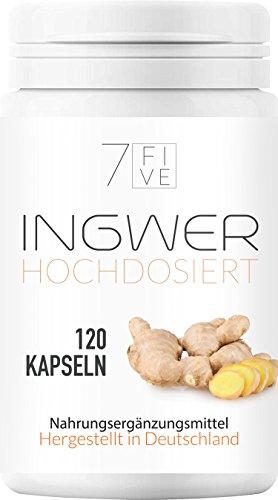 7 FIVE | Ingwer 500 mg hochdosiert | 120 Kapseln in Vorratspaket
