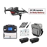 Comomingo X46G drone pliable RC drone hélicoptère de drone Wifi FPV sans moteur avec caméra 4K HD et batterie au lithium