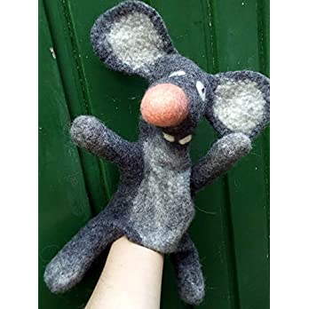 Handpuppe crazy Maus