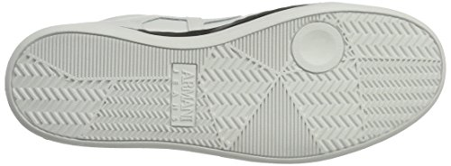 Armani - Sneaker High Cut, Pantofole a Stivaletto Uomo Bianco (Bianco)