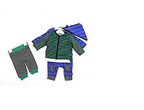 Schlafanzug Bandana (5tlg. Baby Jungen Set Erstausstattung Strampler Spieler Jacke Hose Shirt langarm Halstuch 56-74 (68/74))